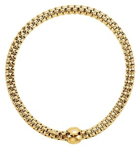 LoveBrightJewelry Sterling Silver Yellow Gold Plated 4.3mm Woven Stretch Bracelet