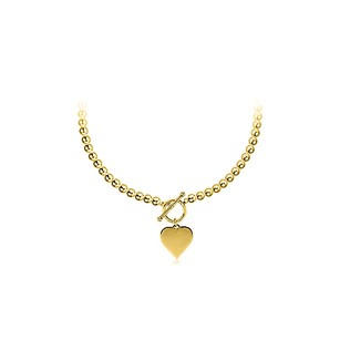 LoveBrightJewelry Toggle Lock and Heart Pendant 18K Yellow Gold Vermeil