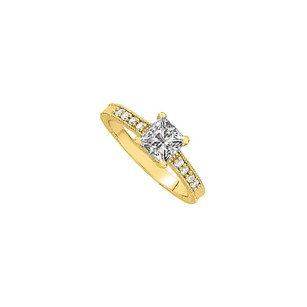 LoveBrightJewelry Uniquely Designed Cubic Zirconia Ring In 18k Yellow Gold Vermeil Reasonable Price Elegant Design