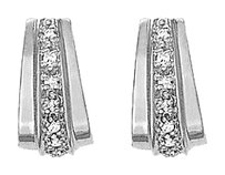 LoveBrightJewelry Wide Modern Diamond Hoop Earrings for Women 0.50 CT TDW