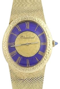 Lucien Piccard Lucien Piccard 14k Gold Watch Blue Dial Serviced W Warranty Swiss Wristwatch