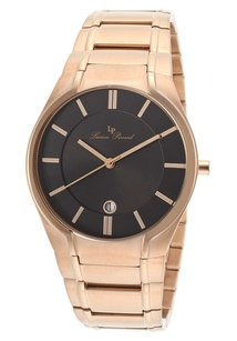 Lucien Piccard Lucien Piccard Men's Davos Rose-Tone Stainless Steel Black Dial