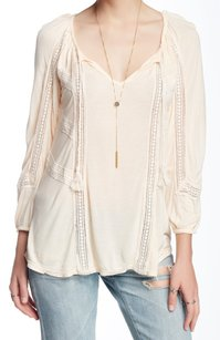 Lucky Brand 3/4 Sleeve 7w62319 Top