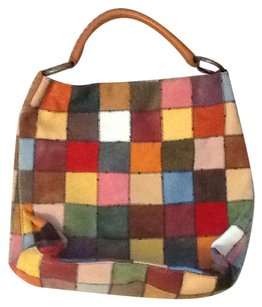 Lucky Brand Leather Purse Tote in Patchwork