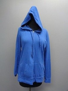 lucy Lucy Blue Stretchy 1 Zipper Hooded Long Sleeved Athletic Jacket Sma6777