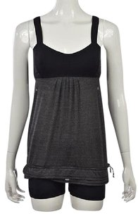 Lululemon Womens Black Color Block Sleeveless Casual Shirt Top Multi-Color