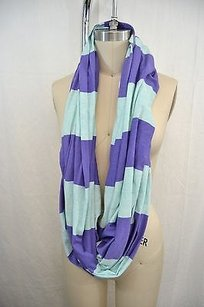 Lululemon Lululemon Athletica Aqua Purple Striped Clarity Scarf Os