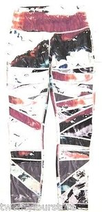 Lululemon Lululemon High Times Pant Pigment Wave Multi Biggie White In Luxtreme