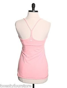 Lululemon Lululemon Power Y Tank Top In Bleached Coral Pink