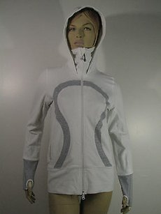 Lululemon Lululemon Scuba Hoodie Jacket Whitegray Unlined Excellent Condition