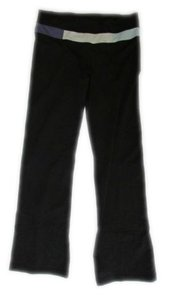 Lululemon Lululemon Womens Black Mid Rise Yoga Straight Leg Stretch Comfortable Pant