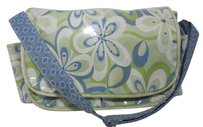 M. ANDONIA BLUE GREEN WHITE Diaper Bag