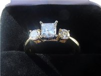 M. Geller Diamond Ring 1.10 ct. tw 14k Yellow Gold Designed By M Geller