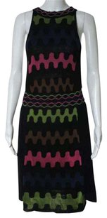 M Missoni short dress Black Multi Colored on Tradesy