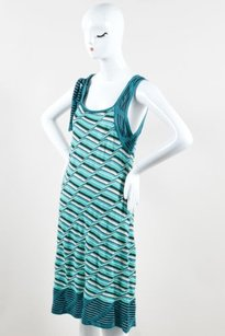M Missoni Green White Dress