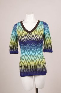 M Missoni Brown Blue Green Knit Sweater