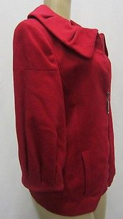 Mac & Jac Sleeve Zip Front Portrait Collar Wool 50934bjb Reds Jacket