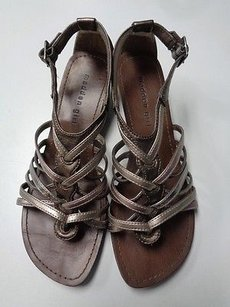 Madden Girl Casual Strappy Low Wedge Sandals B3342 Brown And Silver Platforms