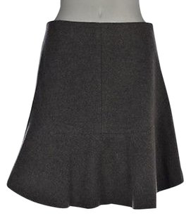 Madewell Womens Gray Speckled A Line Wool Above Knee Casual Skirt Multi-Color