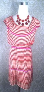 Madewell Broadway Broome Striped Silk 0 Dress
