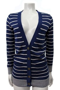 Madewell Pocket Cardigan In Stripe Tan Sweater