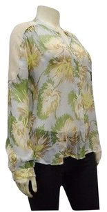 Madison Marcus Silk Sheer Floral Print 200387ms Top Multi-Color