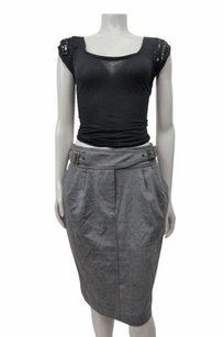 Maeve Cinched Ponte Pencil By Skirt Gray