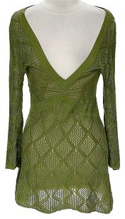 Magaschoni Crochet V-neck Tunic