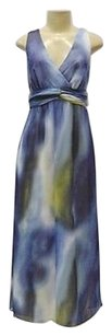 Blue Maxi Dress by Maggy London Bluemulti Ombre Tie Dye Print Maxi 0752rm