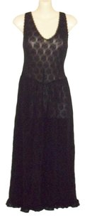 Black Maxi Dress by Maidenform Sleeveless Lace Nightgown