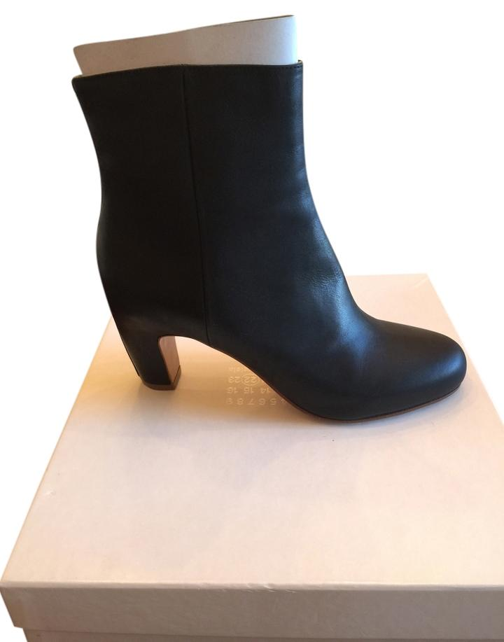 Maison Margiela Black Zip Ankle Boots/Booties Size US 8