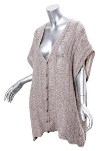 Maison Margiela Maison Womens Alpaca Knit Oversized Cardigan Sweater