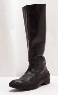 Maison Margiela Maison Womens Rubber Leather Long Black Boots