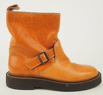 Maison Margiela Maison Tan Distressed Leather Motorcycle Camel Boots