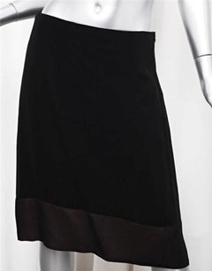 Maison Margiela Maison Womens Silk Chiffon Straight 426 Skirt Black