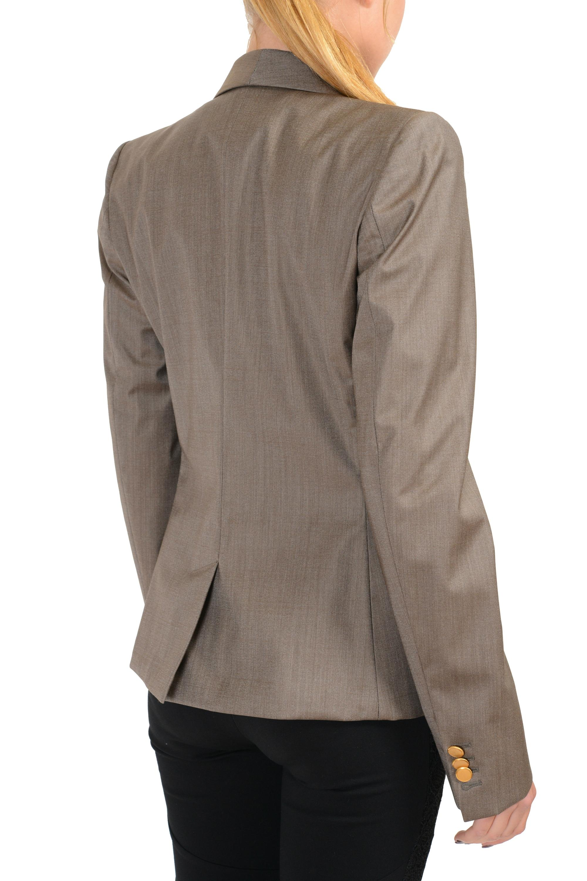 Maison Margiela V-wh-2055 Gray Blazer - 85% Off Retail chic