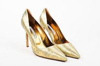 Manolo Blahnik Metallic Gold Pumps