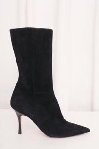 Manolo Blahnik Womens Black Boots