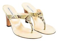 Manolo Blahnik Cream Taupe Sandals