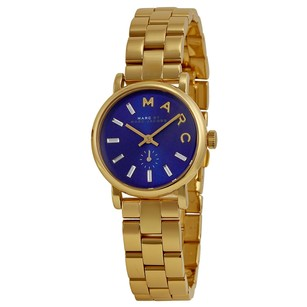 Marc by Marc Jacobs Baker Metallic Blue Dial Gold-tone Ladies Watch