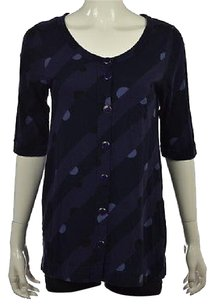 Marc by Marc Jacobs Womens Navy Cardigan Cotton Printed Casual Sweater