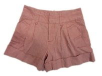 Marc by Marc Jacobs Pleated Cuffed Hem 0 Shorts Pink