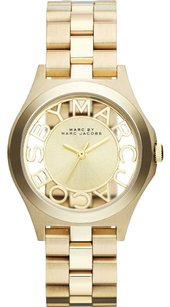 Marc by Marc Jacobs Henry Champagne Dial Gold-plated Ladies Watch