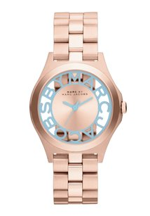 Marc by Marc Jacobs Henry Quartz Gold Dial Women's Analog Watch MBM3296