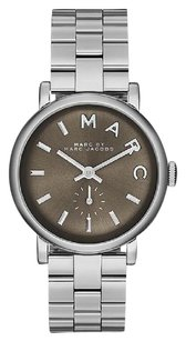 Marc by Marc Jacobs Marc Jacobs Baker Silver Tone Watch MBM3329 36mm