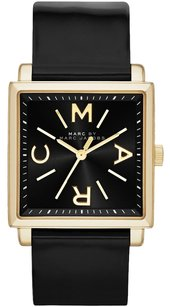 Marc by Marc Jacobs MBM1279 + box women's Marc by Marc Jacobs TRUMAN Shiny Black Leather WATCH