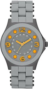 Marc by Marc Jacobs New Marc Jacobs Grey Silicone Wrapped Bracelet Women's Ladies Watch MBM-2589