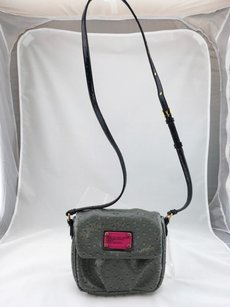 Marc by Marc Jacobs Ostrich Embossed Crossbody Shoulder Bag