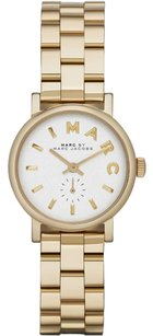 Marc by Marc Jacobs White Pearlized Dial Gold-Tone Stainless Steel Ladies Watch