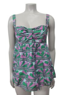 Marc Jacobs Sweetheart Green Printed Top Multi-Color